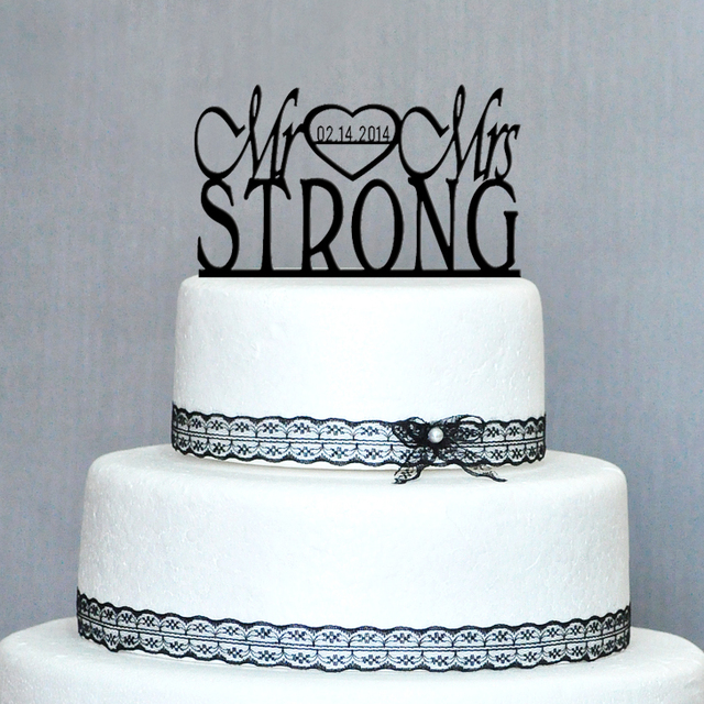 Personalized Wedding Cake Topper Acrylic Custom Name