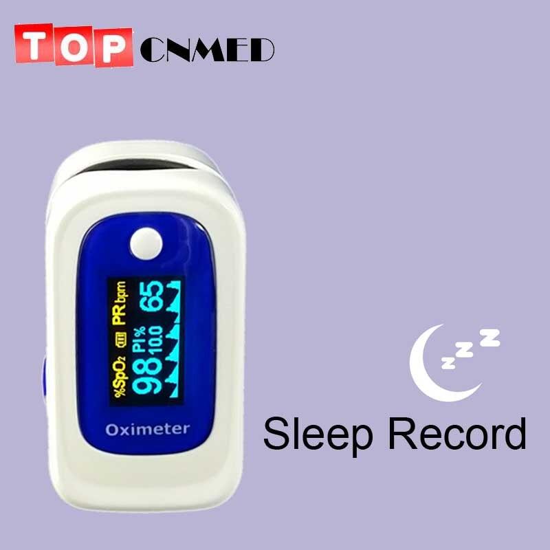 CE ISO PI ODI Anti-movement Pulse Oximeter SPO2 PR Blood Oxygen Monitor Beep&Visual and Sound Alarm Sleep Measure Solid Waveform
