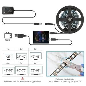 Image 5 - Ambilight WS2812B 5050 حلم اللون RGB LED قطاع ضوء شاشة التلفاز حاسوب شخصي مكتبي شاشة الخلفية الإضاءة بكسل الشريط الشريط 1 متر ~ 5 متر