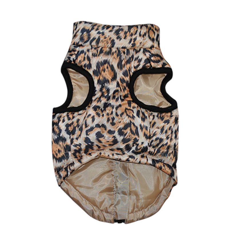 Dog Clothes Pet Dog Leopard Horses Fall Autumn Pet Clothing Warm Colors Bright Fashion Cute Comfortable