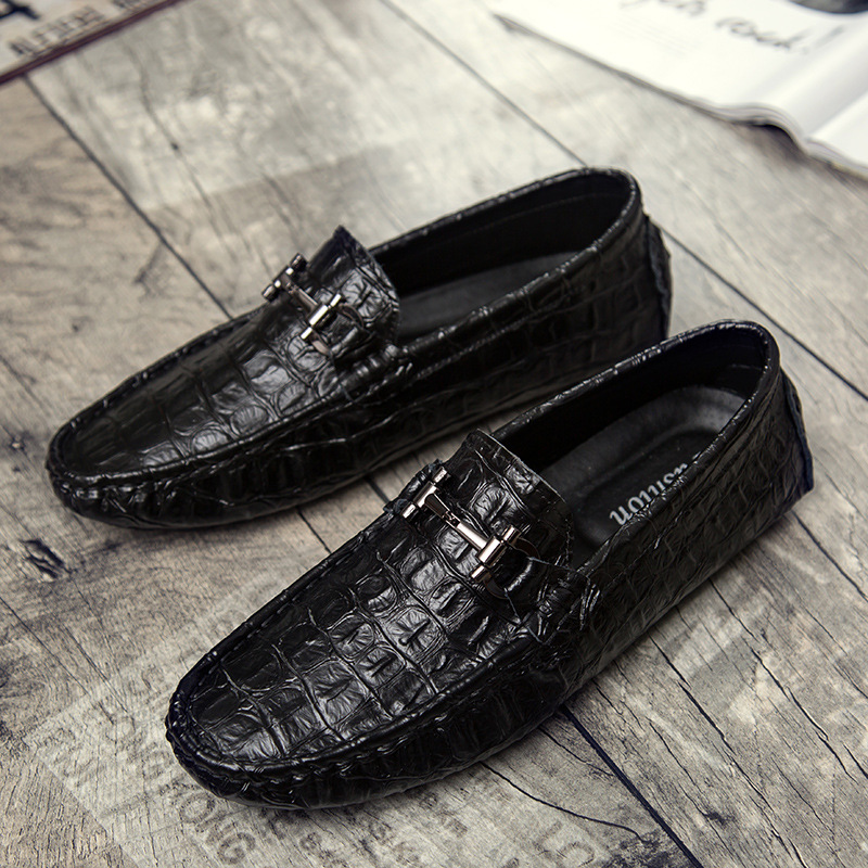 Famous Brand Men Crocodile Loafers Shoes Soft Genuine Leather Driving Shoes Moccasins Gommino Casual Boat Shoes Cortez XK121401 british slip on men loafers genuine leather men shoes luxury brand soft boat driving shoes comfortable men flats moccasins 2a