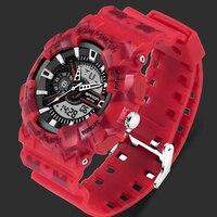 SANDA Brand Chronograph Sports Watches Men Waterproof Silicone Clock Camping Students Fashion Casual Wrist Watch Relogio