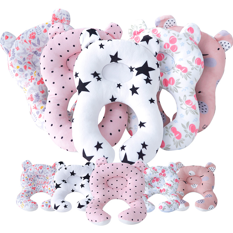 Muslinlife 2019 Fashion Concave Baby Pillow Neck Head Baby Kids Pillows Soft Cotton Sleep Baby Cushion Anti Roll Dropship