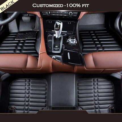 Custom car floor mats For peugeot all model 206 207 301 307 308s 308cc 308sw 408 508 2008 3008 4008 RCZ car accessories custom fit car floor mats for peugeot 206 2008 301 307 3008 408 4008 508 car styling carpet floor liner ry255