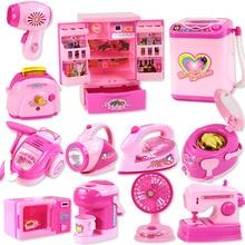 ילדים מיני חינוכיים צעצועי מטבח ורוד ביתי ילדי מכשירי מטבח משחק ילדים בנות מתנת צעצוע Dropshipping