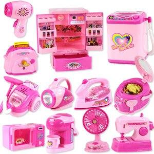 Image 1 - Kinder mini Pädagogisches Küche Spielzeug Rosa Haushalts Geräte Kinder Spielen Küche Für Kinder Mädchen Geschenk Spielzeug Dropshipping