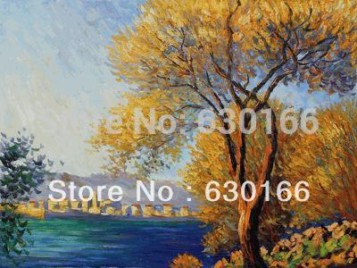 Claude Monet Oil Painting Reproductions - Antibes Tree Paintings on Canvas 100% Handmade LandscapeClaude Monet Oil Painting Reproductions - Antibes Tree Paintings on Canvas 100% Handmade Landscape