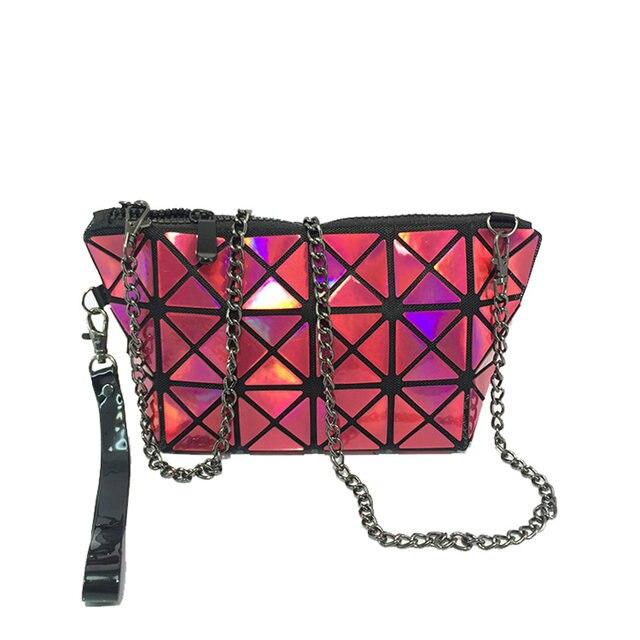 Women Design Fold Over Handbags Madam Pouch Geometric Plaid Tote Casual Clutch Bags Messenger Bag Shoulder Bolso 45