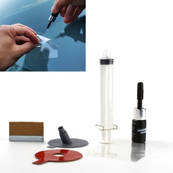 DIY Car Windshield Repair Kit tools Auto Glass Windscreen Repair Set Give Door Handle Protective Decorative Sticker Car Styling