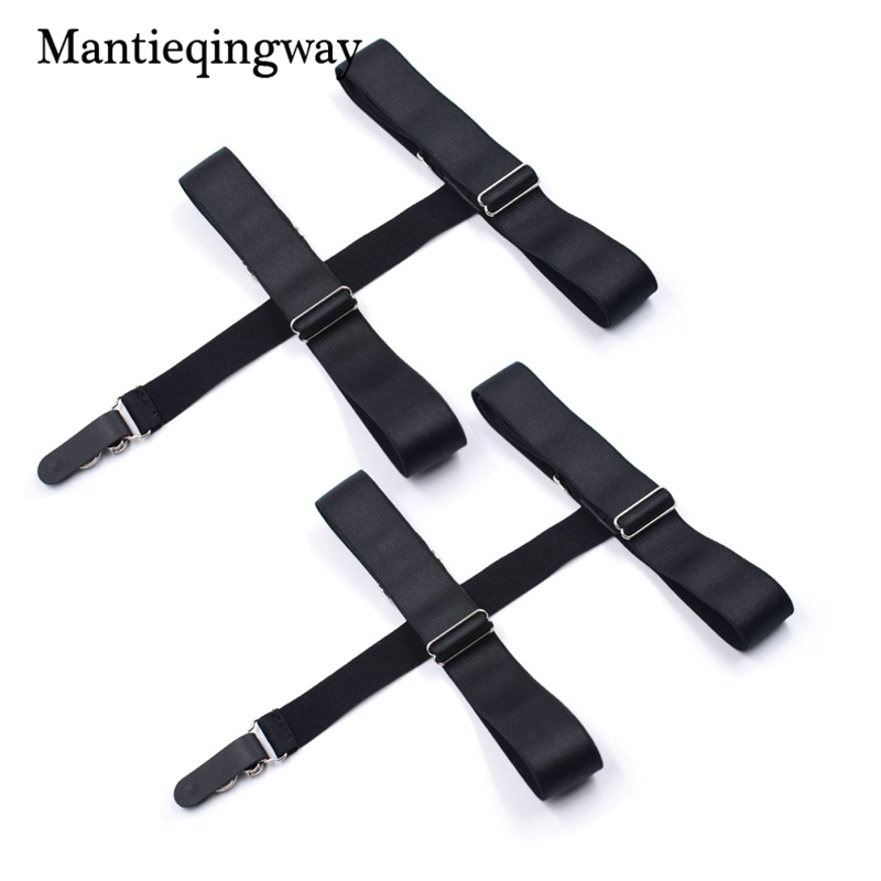 Apparel Accessories Mantieqingway Solid Color Shirts Holders For Men Womens Sexy Garters Fashion Punk Strap Band Leg Adjustable Suspender Straps