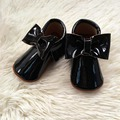 Handmade Black Bow pu Leather Baby Moccasin Baby Shoe