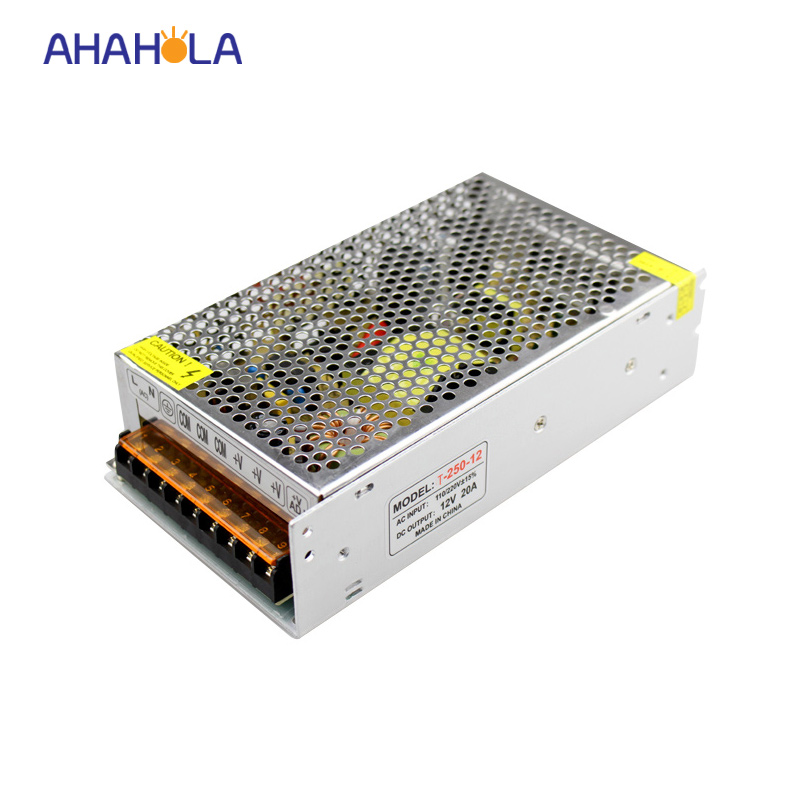 240w switching power supply 12v 20a,input ac 110v 220v,output dc 12v 20a 240w power supply for led lights 1200w 48v adjustable 220v input single output switching power supply for led strip light ac to dc