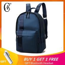 Купить с кэшбэком CAK Brand Men School Backpack Bag For 14inch Laptop Backpacks Travel Bags For Unisex College Students Teenagers Women Ladies