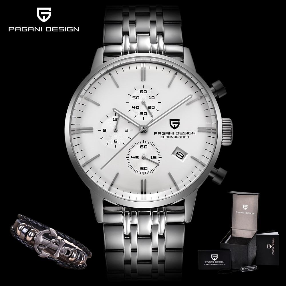 все цены на PAGANI DESIGN Men Watches Brand Luxury Waterproof Full Steel Sport Military Quartz Watch Men Relogio Masculino Saat Dropshipping
