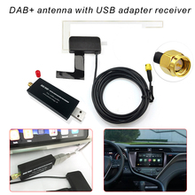 DAB Radio Receiver DAB+ Car Antenna With USB Adapter For Android Car Audio Player Universal Applicable For Europe Australia isudar wince usb mini dab receiver antenna for europe for isudar windows ce 6 0 car dvd player