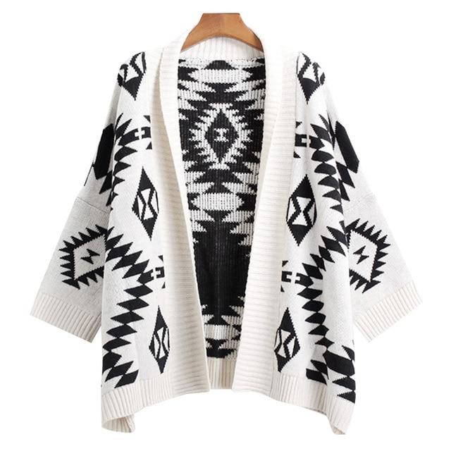 Kimono Cardigan Feminino Gilet Femme Manche Longue 2016 Korean Sweater Women  Poncho De Inverno Tricot Pull 5429a07bf502