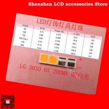 120 шт./лот для литого светильник светодиодный 3030 6V теплый белый светильник