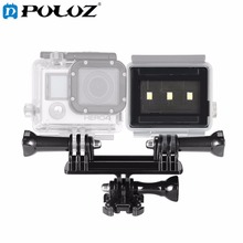 For Go Pro Accessories Matchbox Style Video Light Flashlight with Mount for GoPro HERO5 HERO4 Session HERO 5 4 3+ SJ4000