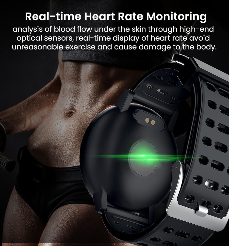 Makibes T3 IOS Android Smart Watches Men Women HR Blood Oxygen Blood Pressure IP67 Waterproof Activity Fitness Tracker PKV11 9