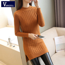 Vangull Elegant Women Sweater Dress 2021 New O-neck Full Sleeve Sashes Stretch Vestidos Female Casual Slim Warm Knitted Dress
