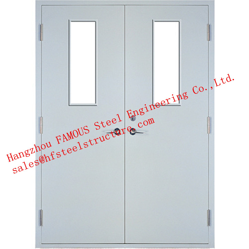 Galvanized Industrial Hollow Steel Fire Doors For Residential Application