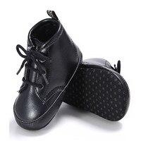 Для маленьких мальчиков Обувь для девочек противоскользящие PU Обувь кожаная для девочек зимняя одежда для детей ясельного возраста Обувь д...