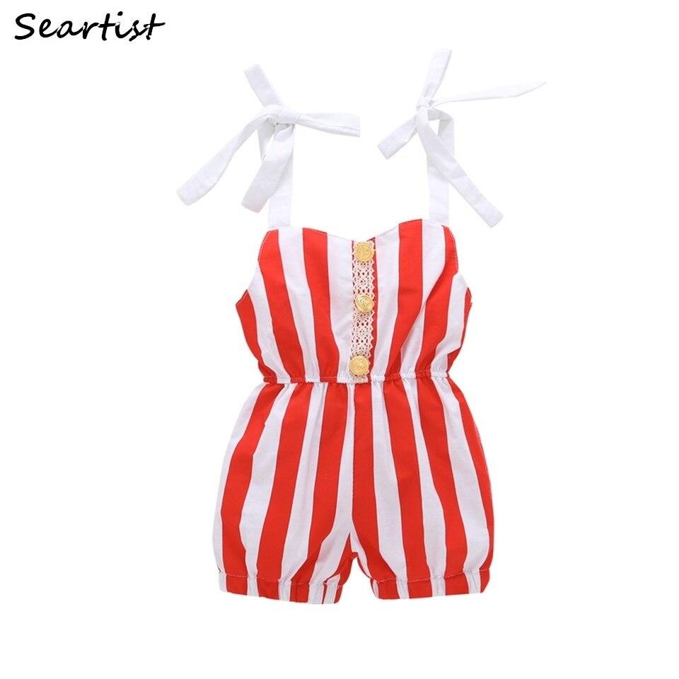 Seartist Baby Girls Summer Jumper Newborn Striped Jumpsuit 2018 New Arrival Toddler Fashion Romper Clothes for Newborns 2018 40G