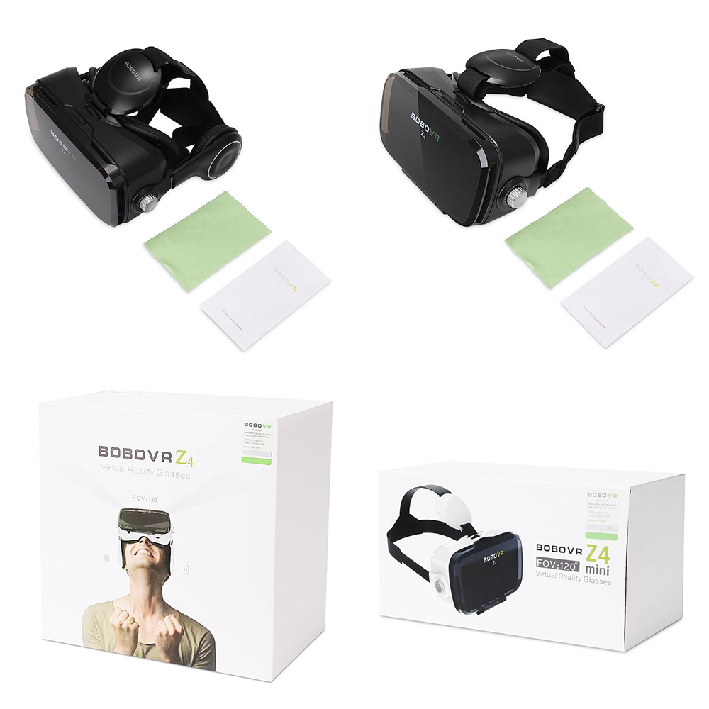 BOBOVR Z4 Mini Virtual Reality 3D glasses Cardboard 120 Degrees FOV VR Box Headset 3D with Bluetooth Remote
