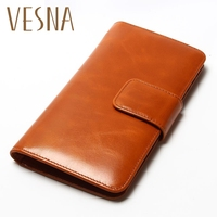 2018 New Fashion Small Retro Vintage Cowhide Genuine Leather Wallet Multinational Card Holders Coin Purse Women Short Walelts