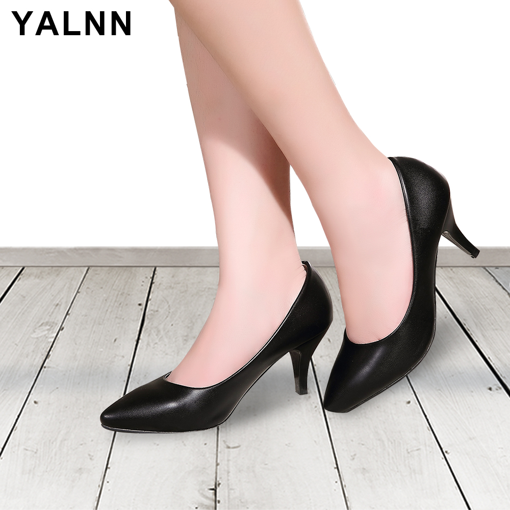 YALNN New Big Size Shoes Basic Leisure Retro Fashion Pointed Toe - Women's Shoes