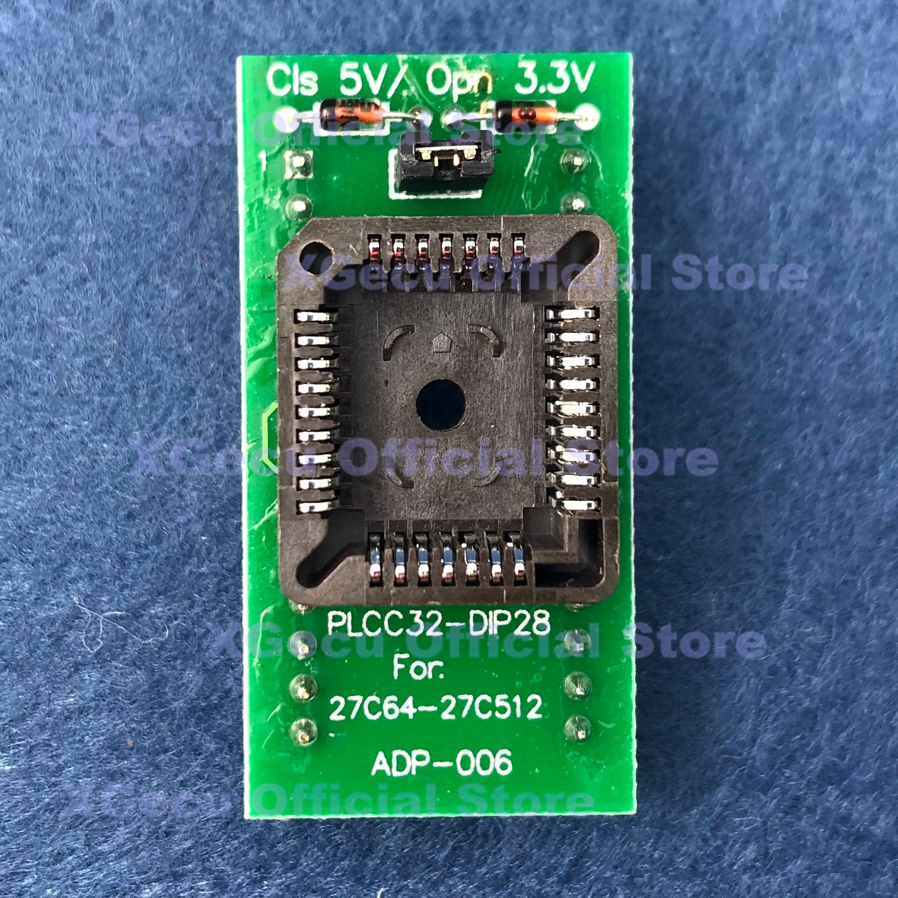 8pcs Test Adapter Kit Sop8 Sop16 PLCC44//32//28//20 DIP for TL866II Plus Programmer