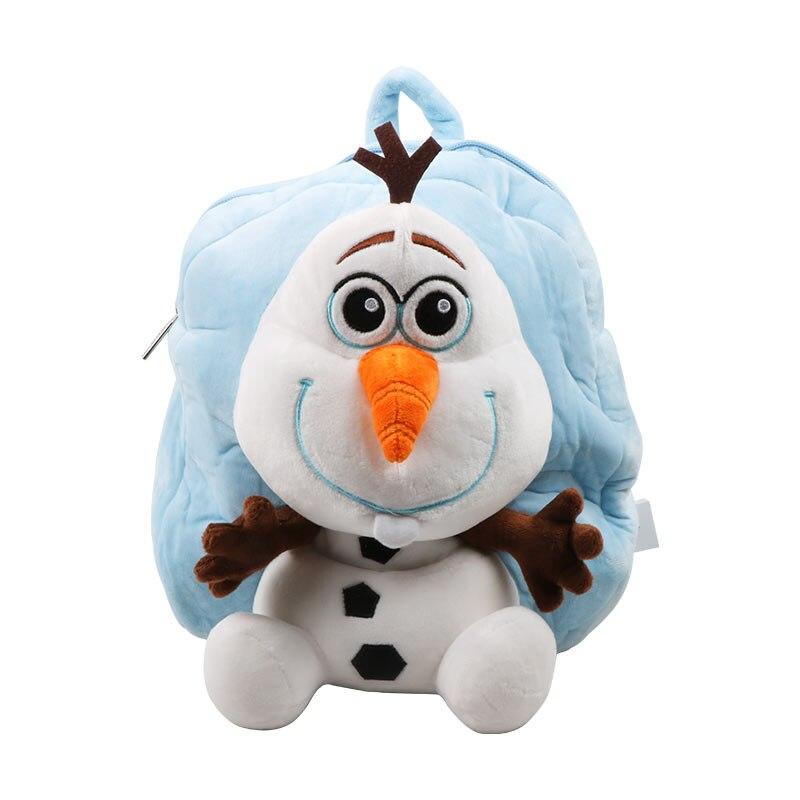 Genuine Disney Backpack 30cm Frozen Olaf Cartoon Plush Cotton Stuffed Doll Kindergarten Schoolbag Christmas Gifts Toys For Kids