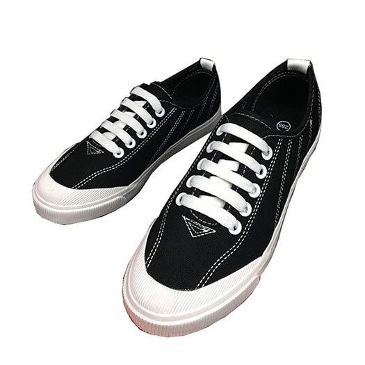 Men Canvas Shoes Casual Black Designer