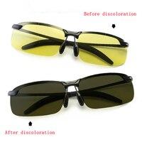 Дневные И Ночные поляризованные линзы, солнцезащитные очки для вождения, солнцезащитные очки для мужчин, зеркало ночного видения, умный цве...
