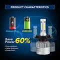 Hi-Lo/Один Луч COB Чипы LED Фар Автомобиля Комплекты Авто Светодиодные Фары свет Лампы ВНЕДОРОЖНИК Противотуманные Фары H4 H7 H11 H13 9005/HB3 9006/HB4