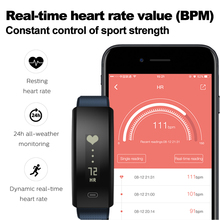 Blood Pressure/Blood Oxygen & Heart Rate Monitor Weekly Health Report Fitness Smartband