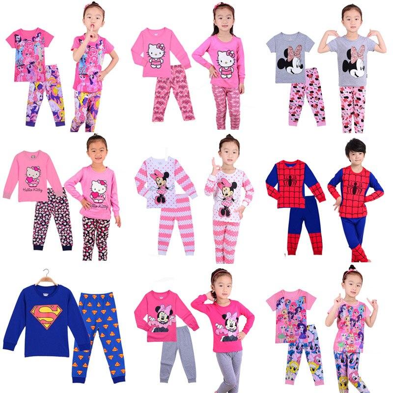 high quality   pajamas     sets   cotton sleepwear kids clothes 2 piece home fashion Pyjamas boy girl baby pijamas nightie clothing