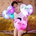37X30CM Hot Luminous pillow Toys Christmas Gift  Led Light Pillow plush Pillow I love you kids Toys Birthday gift
