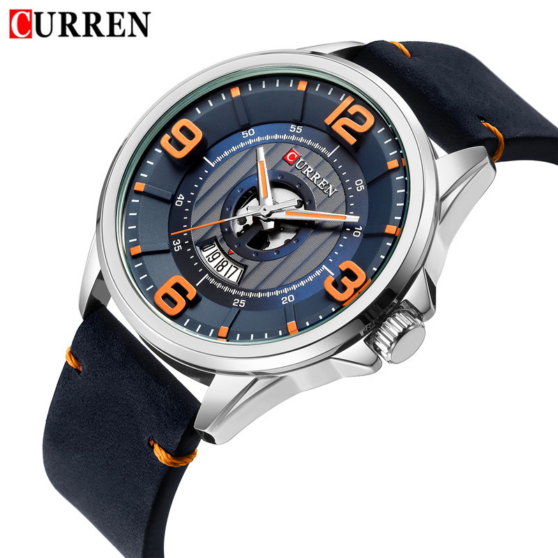 CURREN Mens Watches Waterproof Date Top Brand Luxury Leather Band Sport Business Military Male Clock Gift Relogio Masculino 8305