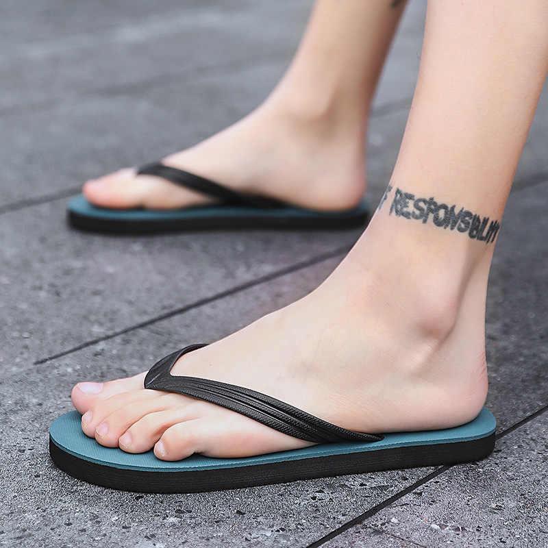 BIGFIRSE شبشب رجالي بإصبع الصيف موضة المنزل النعال العلامة التجارية صندل أحذية رجالي داخلي مريح شبشب Chanclas Hombre