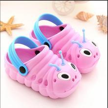 Новые летние детские сандалии и шлепанцы гусеницы для мужчин и женщин Нескользящая детская садовая обувь пляжные сандалии