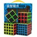 ZCUBE Bundel 2x2 3x3 4x4 5x5 Speed Cube Set 4 stks/doos Stickerloze met koolstofvezel Stickers Magische Kubus Puzzel Speelgoed Spel Geschenkdoos