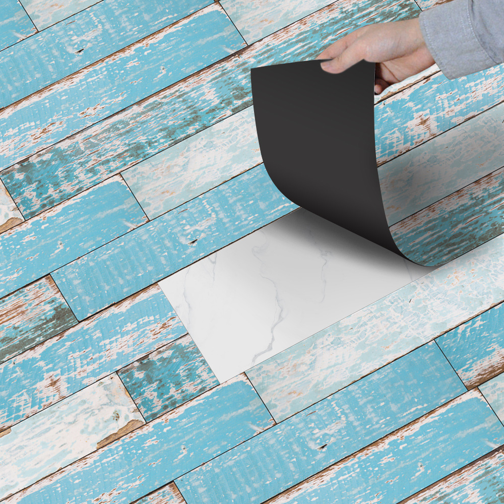 Active Components Imitation Wood Board Sticker Living Room Bedroom Wallpaper Wall Sticker Kitchen Oilproof Sticker Bathroom Waterproof Sticker