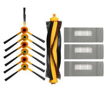 цена на Brush +Filter Vacuum Cleaner Accessories Pack For Ecovacs Deebot Dt85/Dt83/Dm80/Dm81/Dm85