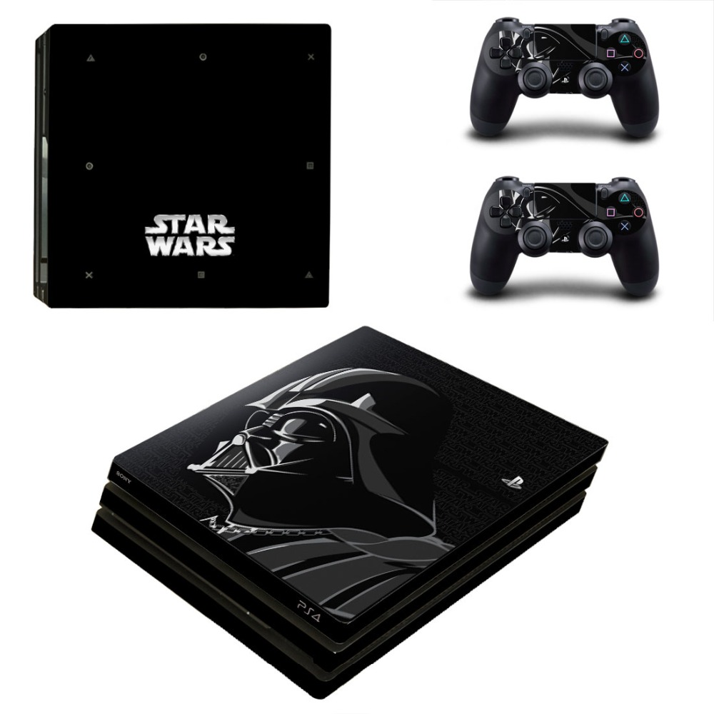 OSTSTICKER STAR WARS Hero Vinyl Skin Sticker For Playstation 4 Pro for Sony PS4 Pro Console and Controllers Skins Decal