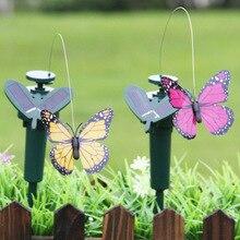 Красочная вибрационная Солнечная энергия Танцующая Летающая бабочка Колибри домашний сад пасхальное украшение