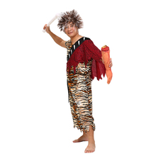 Adult Man Women Thanksgiving Indian Costume Leopard Jungle Fever Warrior Suits Carnival Primitive Sleeveless Outfit For Girls