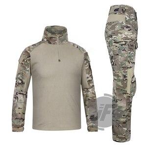 Image 2 - 에머슨 g3 컴뱃 셔츠 & 바지 바지 무릎 패드 세트 emersongear 전술 군사 사냥 gen3 위장 bdu 유니폼 mc