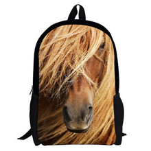 Детская Школа Рюкзаки 3D Зоопарк Животное Bagpack для Teennager Мальчики Лошадь Печати Рюкзак для Учащихся Начальной