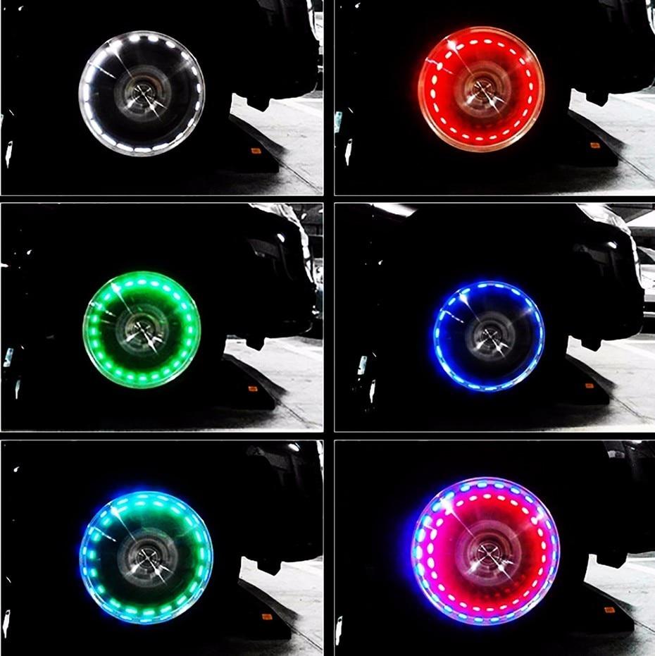 Led Per Auto Tuning.Us 10 88 17 Off Lvtusi 4x Led Auto Tuning Nozzle Cap Licht Velgen Wiel Kraandopverbindingen Band Motion Voor Led Flash Tyre Kleppen Lamp 13 Flash
